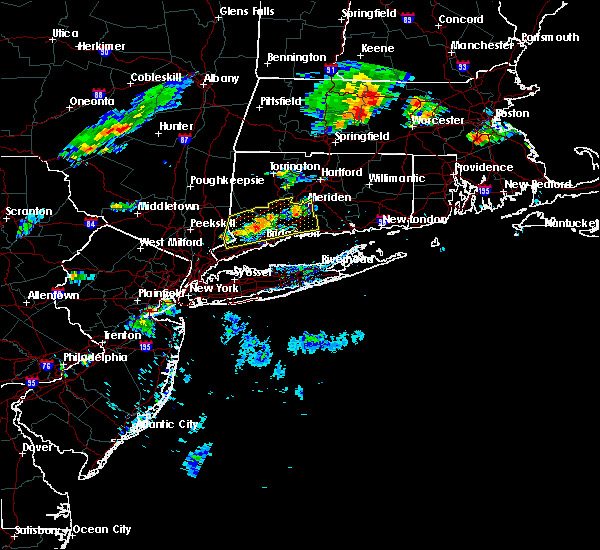 Radar Image for Severe Thunderstorms near Cheshire Village, CT at 8/8/2018 6:21 PM EDT