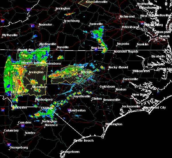 Radar Image for Severe Thunderstorms near Advance, NC at 8/8/2018 6:44 PM EDT