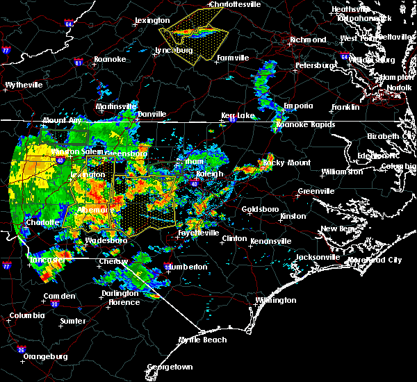 Radar Image for Severe Thunderstorms near Moncure, NC at 8/8/2018 7:35 PM EDT