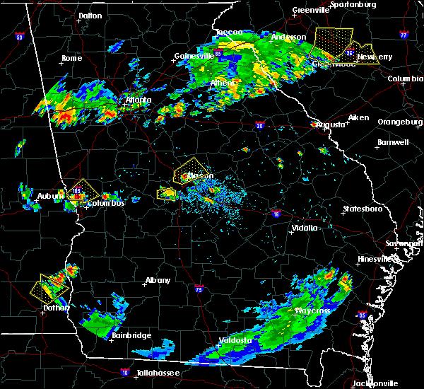 Radar Image for Severe Thunderstorms near Roberta, GA at 8/8/2018 8:26 PM EDT