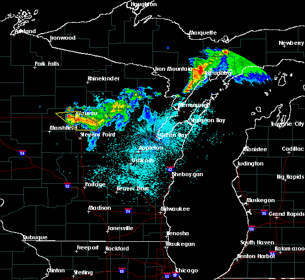 Radar Image for Severe Thunderstorms near Mosinee, WI at 8/8/2018 11:59 PM CDT