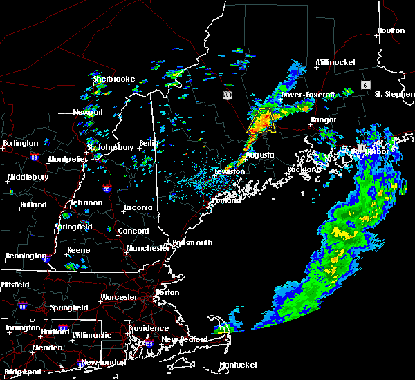 Radar Image for Severe Thunderstorms near Hartland, ME at 8/9/2018 12:24 PM EDT