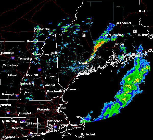 Radar Image for Severe Thunderstorms near Dexter, ME at 8/9/2018 12:33 PM EDT