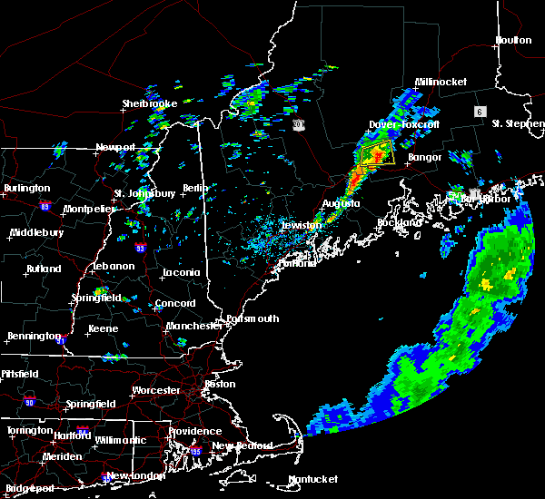 Radar Image for Severe Thunderstorms near Newport, ME at 8/9/2018 12:57 PM EDT