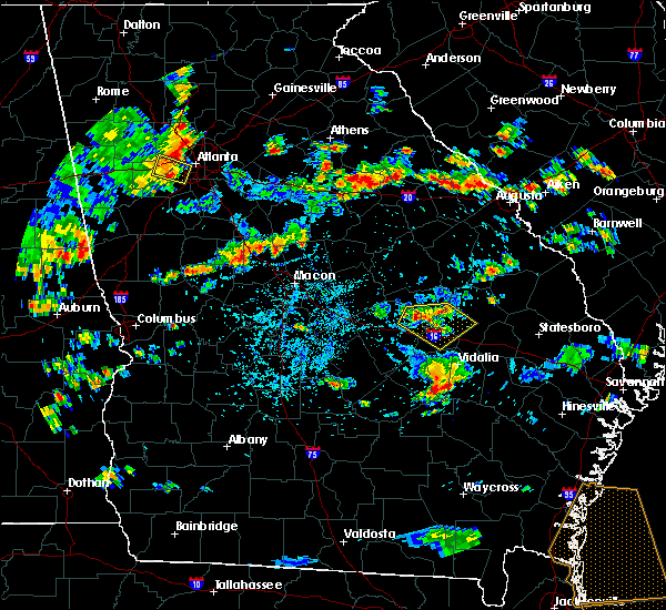 Radar Image for Severe Thunderstorms near Adrian, GA at 8/9/2018 4:38 PM EDT