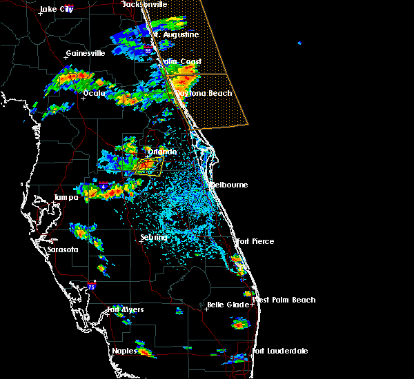 Radar Image for Severe Thunderstorms near Buenaventura Lakes, FL at 8/9/2018 4:47 PM EDT
