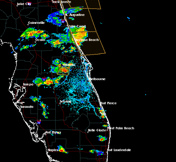 Radar Image for Severe Thunderstorms near Buenaventura Lakes, FL at 8/9/2018 5:00 PM EDT