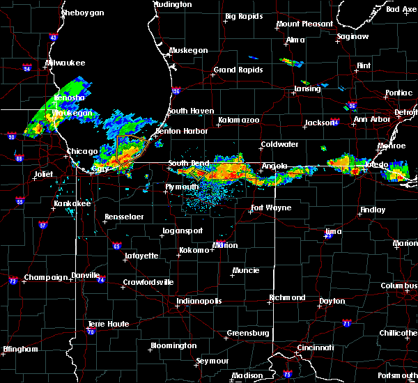Radar Image for Severe Thunderstorms near Dunlap, IN at 8/9/2018 7:38 PM EDT
