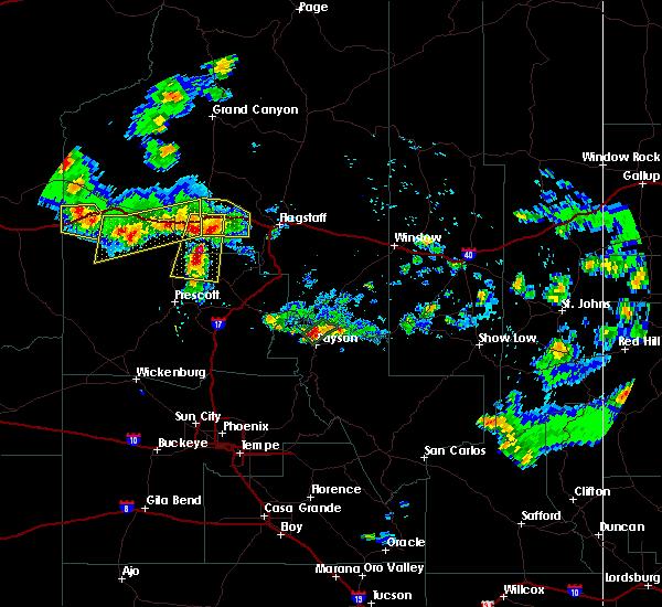 Map Of Arizona Including Jerome.Interactive Hail Maps Hail Map For Jerome Az
