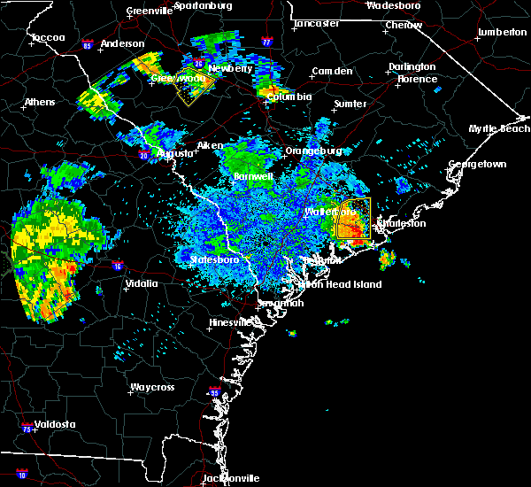 Radar Image for Severe Thunderstorms near Ravenel, SC at 8/9/2018 8:19 PM EDT