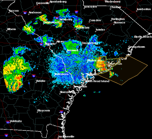 Radar Image for Severe Thunderstorms near Kiawah Island, SC at 8/9/2018 8:25 PM EDT