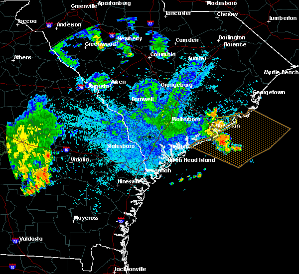 Radar Image for Severe Thunderstorms near North Charleston, SC at 8/9/2018 8:56 PM EDT