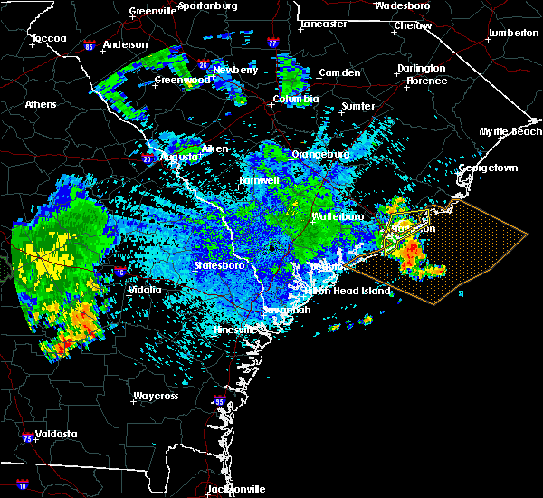 Radar Image for Severe Thunderstorms near Mount Pleasant, SC at 8/9/2018 9:08 PM EDT