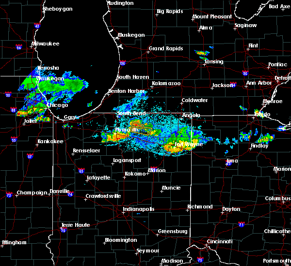 Radar Image for Severe Thunderstorms near Milford, IN at 8/9/2018 9:17 PM EDT
