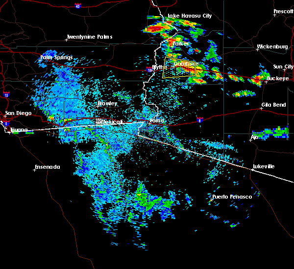 Radar Image for Severe Thunderstorms near Bouse, AZ at 8/9/2018 9:49 PM MST
