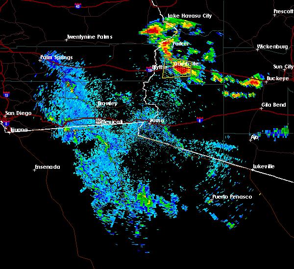 Radar Image for Severe Thunderstorms near Bouse, AZ at 8/9/2018 10:04 PM MST