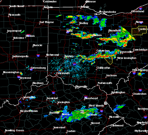 Radar Image for Severe Thunderstorms near Logan, OH at 8/10/2018 4:15 PM EDT
