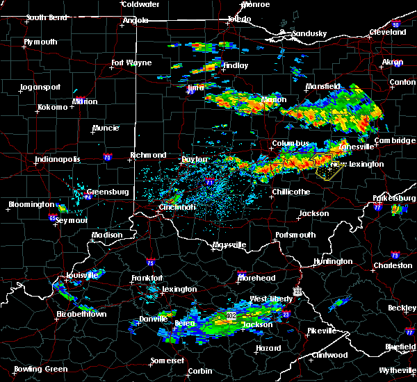 Radar Image for Severe Thunderstorms near New Lexington, OH at 8/10/2018 4:36 PM EDT
