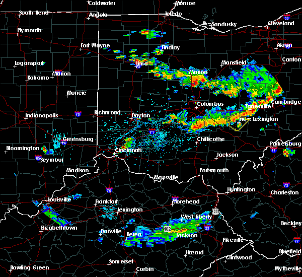 Radar Image for Severe Thunderstorms near New Lexington, OH at 8/10/2018 4:58 PM EDT