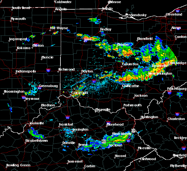 Radar Image for Severe Thunderstorms near Cincinnati, OH at 8/10/2018 5:20 PM EDT