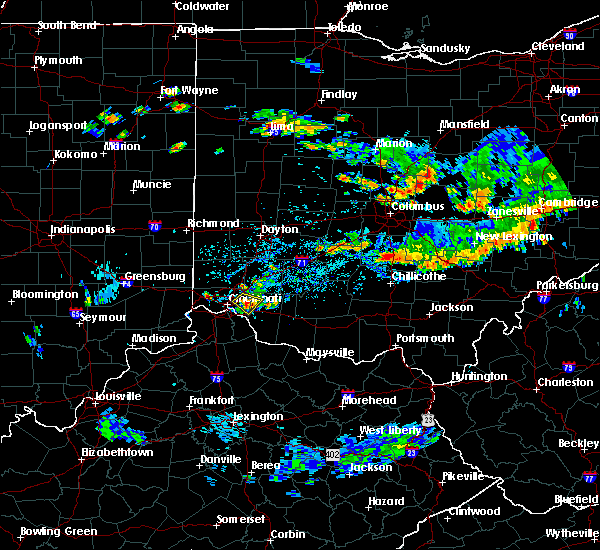 Radar Image for Severe Thunderstorms near Cincinnati, OH at 8/10/2018 5:35 PM EDT