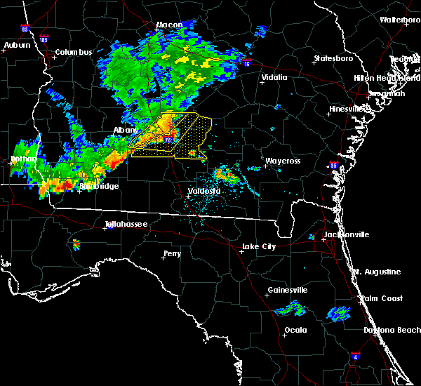 Radar Image for Severe Thunderstorms near Fitzgerald, GA at 8/10/2018 8:07 PM EDT
