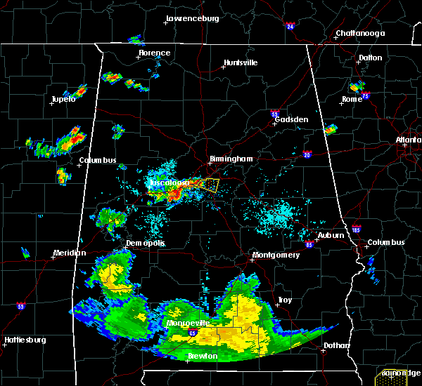 Radar Image for Severe Thunderstorms near Helena, AL at 8/10/2018 7:25 PM CDT