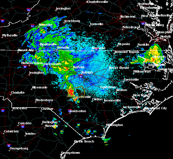Radar Image for Severe Thunderstorms near Falcon, NC at 8/11/2018 3:31 AM EDT