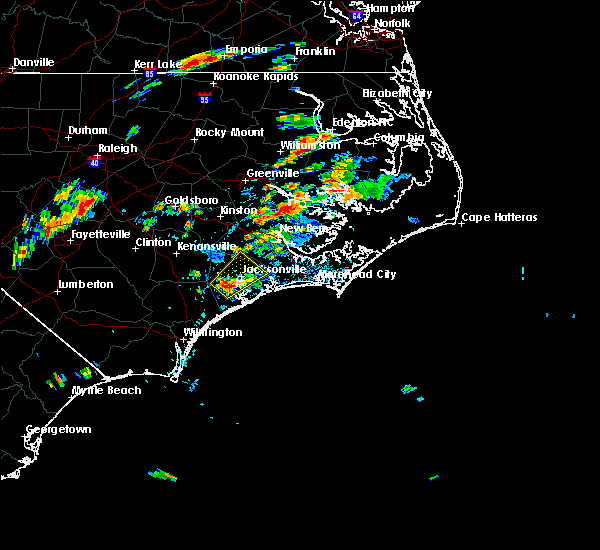Radar Image for Severe Thunderstorms near Jacksonville, NC at 8/11/2018 2:32 PM EDT
