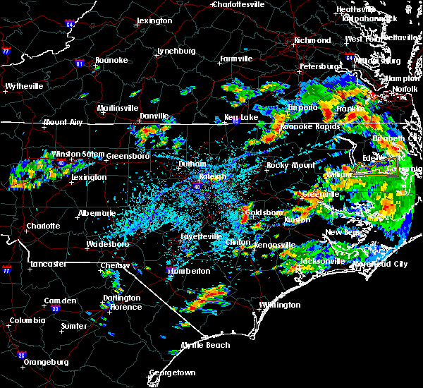 Radar Image for Severe Thunderstorms near Mount Olive, NC at 8/11/2018 4:17 PM EDT