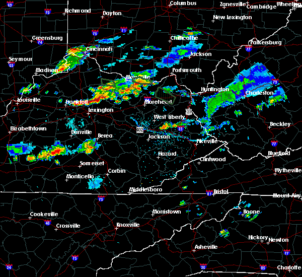 Radar Image for Severe Thunderstorms near Paris, KY at 8/11/2018 5:56 PM EDT