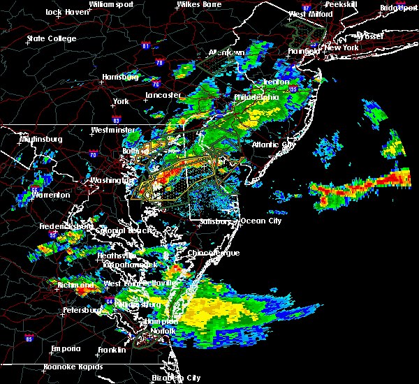 Radar Image for Severe Thunderstorms near Dover, DE at 8/11/2018 7:23 PM EDT