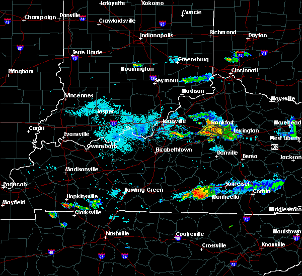 Radar Image for Severe Thunderstorms near Lawrenceburg, KY at 8/11/2018 7:48 PM EDT