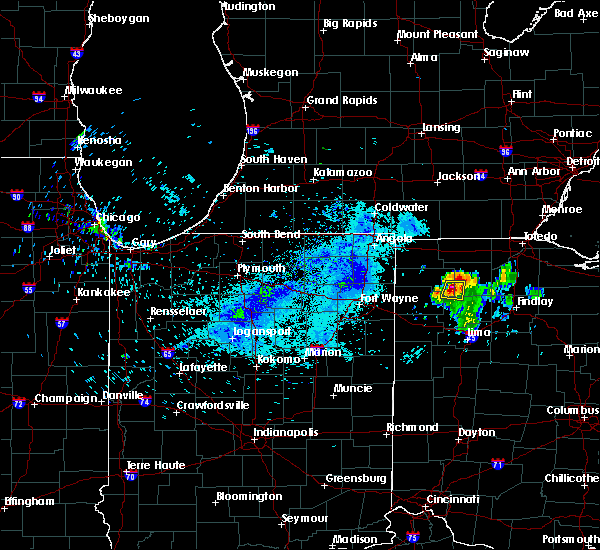 Radar Image for Severe Thunderstorms near Holgate, OH at 8/12/2018 7:38 AM EDT