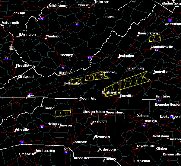 Radar Image for Severe Thunderstorms near Blairs, VA at 8/12/2018 2:11 PM EDT