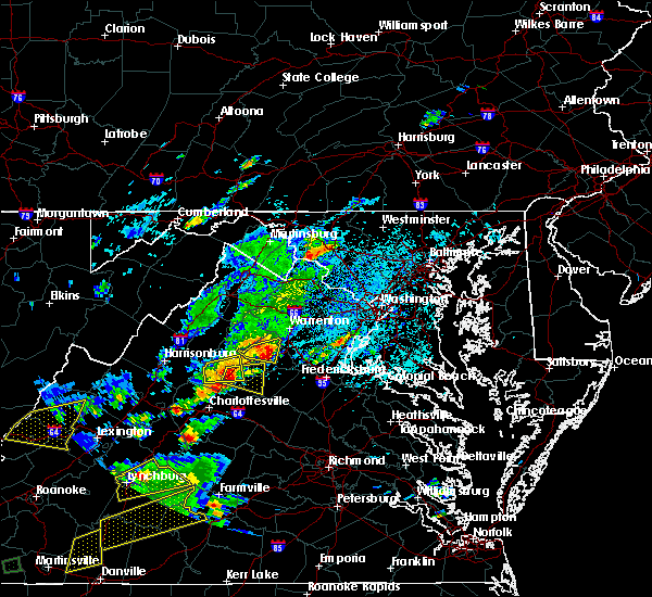 Radar Image for Severe Thunderstorms near Scottsville, VA at 8/12/2018 2:41 PM EDT
