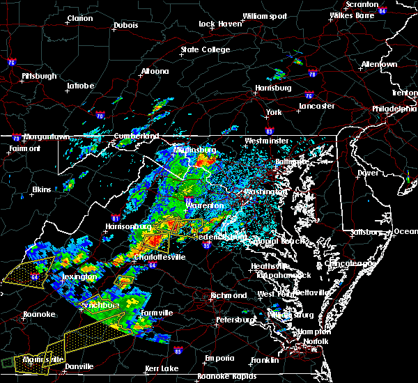 Radar Image for Severe Thunderstorms near Orange, VA at 8/12/2018 2:51 PM EDT
