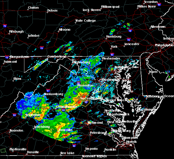 Radar Image for Severe Thunderstorms near Southern Gateway, VA at 8/12/2018 3:50 PM EDT