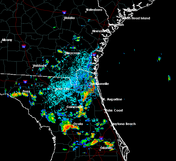 Radar Image for Severe Thunderstorms near Jacksonville, FL at 8/12/2018 3:53 PM EDT