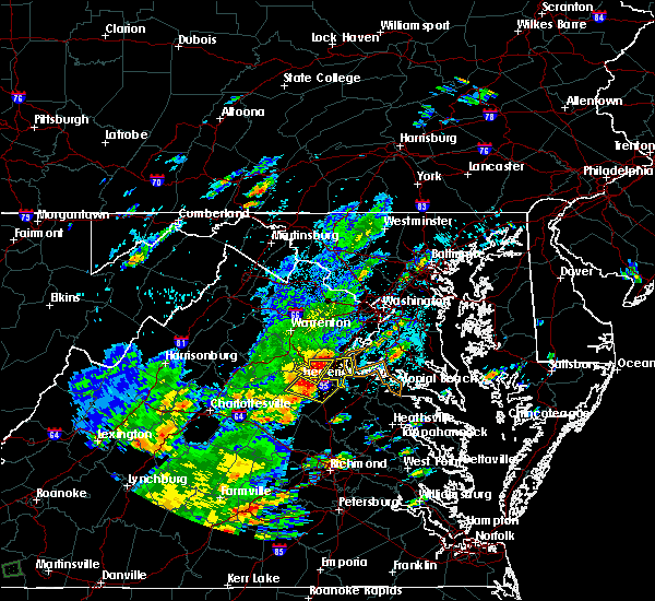 Radar Image for Severe Thunderstorms near Southern Gateway, VA at 8/12/2018 3:58 PM EDT