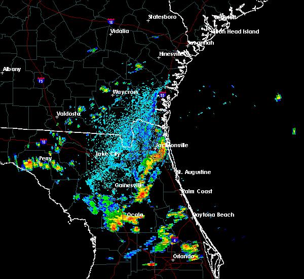 Radar Image for Severe Thunderstorms near Jacksonville, FL at 8/12/2018 4:10 PM EDT