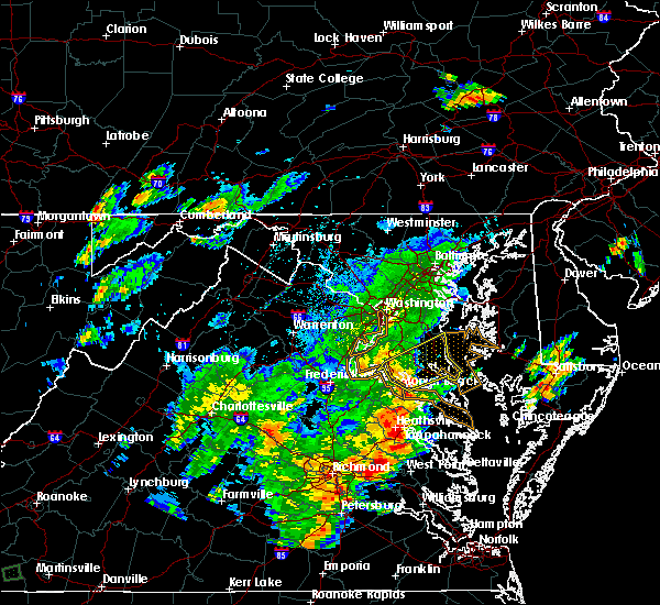 Radar Image for Severe Thunderstorms near St. Leonard, MD at 8/12/2018 5:39 PM EDT