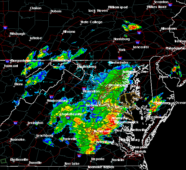 Radar Image for Severe Thunderstorms near St. Leonard, MD at 8/12/2018 5:45 PM EDT