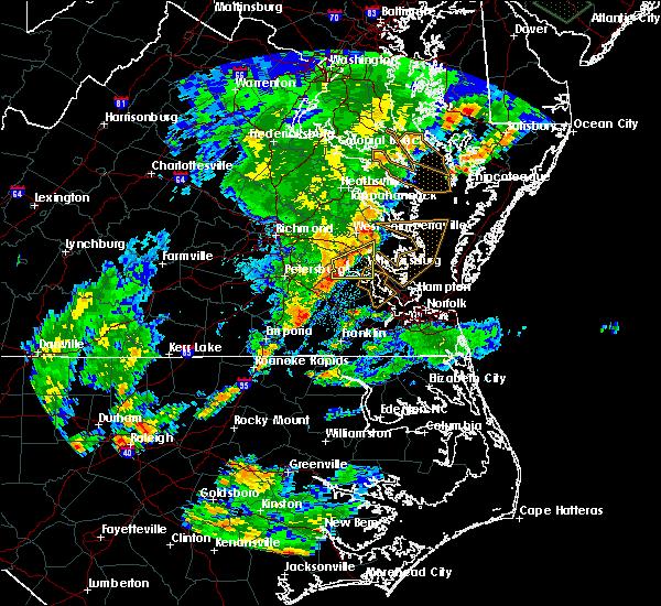 Radar Image for Severe Thunderstorms near Williamsburg, VA at 8/12/2018 6:46 PM EDT