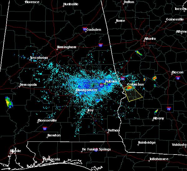 Radar Image for Severe Thunderstorms near Columbus, GA at 8/12/2018 8:51 PM EDT