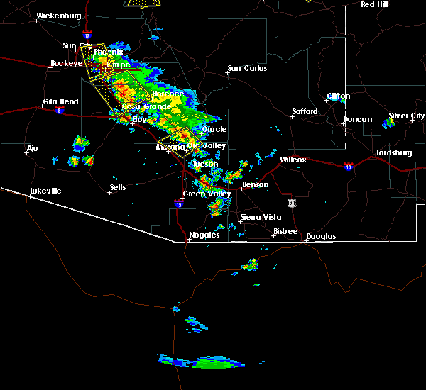 Radar Image for Severe Thunderstorms near Catalina, AZ at 8/12/2018 6:27 PM MST
