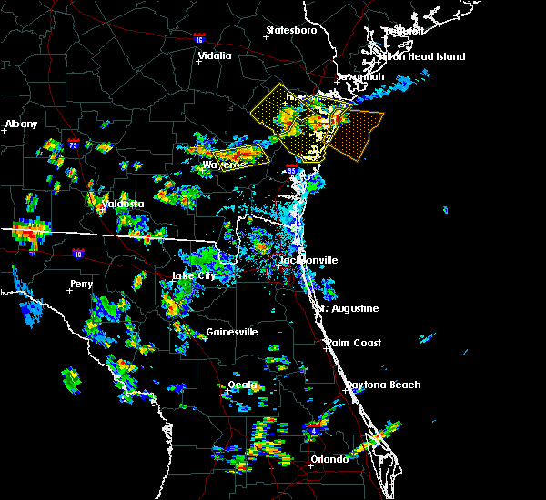Radar Image for Severe Thunderstorms near Darien, GA at 8/13/2018 4:30 PM EDT