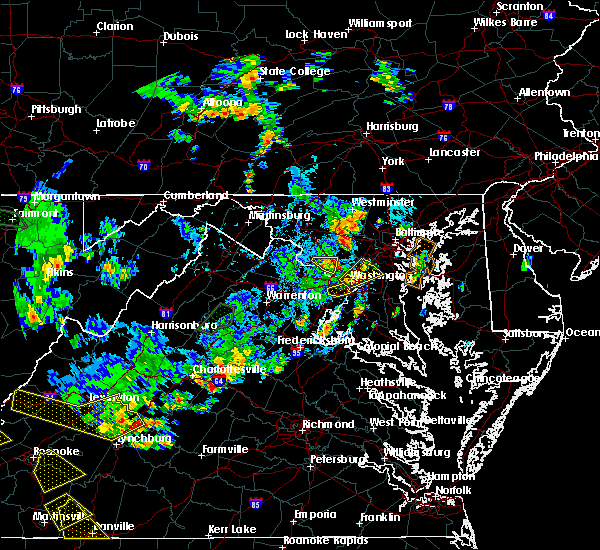 Radar Image for Severe Thunderstorms near Woodmore, MD at 8/13/2018 5:02 PM EDT