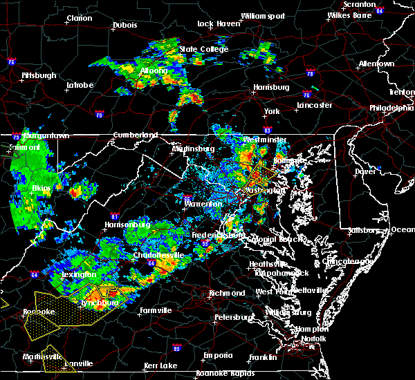 Radar Image for Severe Thunderstorms near College Park, MD at 8/13/2018 5:30 PM EDT