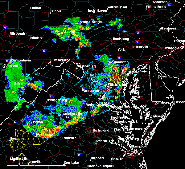 Radar Image for Severe Thunderstorms near North Laurel, MD at 8/13/2018 5:45 PM EDT